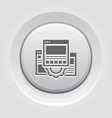 technical documentation icon gear and web pages vector image