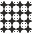 tile pattern with polka dots on black and white vector image vector image