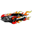 vintage car hot rod garage hotrods carold vector image vector image