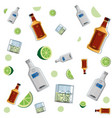 vodka and beer background vector image