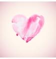 watercolor heart vector image vector image