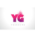 yg y g letter logo with pink purple color and vector image vector image
