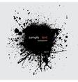 Black ink splash with text vector image