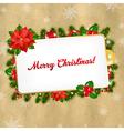 Christmas Vintage Blank Gift Tag vector image