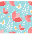 coral flowers vector image