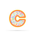 letter c with group of circles abstract logo icon vector image