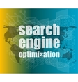 Search Engine Optimization - SEO Sign vector image