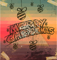 2014 Christmas Vintage typograph design vector image vector image