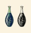 a bottle olive oil food preservation organic vector image vector image