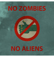 Anti zombie poster vector image
