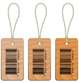 barcode wooden tags vector image vector image