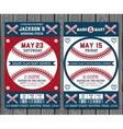 Baseball tickets vector image vector image