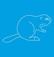 beaver icon outline style vector image