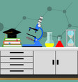 biological science experiment vector image vector image