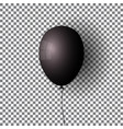 black balloon transparent isolated air ball vector image vector image
