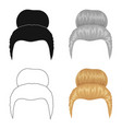 blond hair with a shingleback hairstyle single vector image vector image