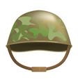 camouflage helmet mockup realistic style vector image