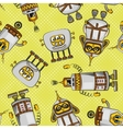 Cartoon Robots Seamless vector image