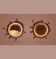 chocolate splash or cocoa liquid splat vector image vector image