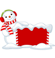 Christmas board and Snowmen vector image vector image