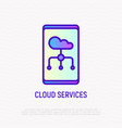 cloud services thin line icon vector image