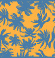 colorful palm tree seamless pattern vector image vector image