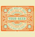 craft beer vintage label layered vector image vector image