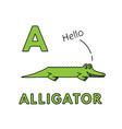 cute cartoon animals alphabet alligator vector image vector image