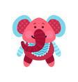 cute cartoon elephant animal toy colorful vector image vector image