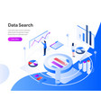 data search isometric concept modern flat design vector image vector image