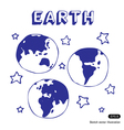 Earth and stars vector | Price: 1 Credit (USD $1)
