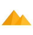 egyptian pyramid icon flat style vector image