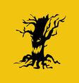 Evil halloween tree vector image vector image