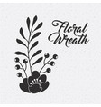 floral wreath flower berries leaves natural vector image