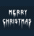 frozen text merry christmas vector image vector image