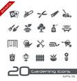 garden and gardening icons - basics vector image