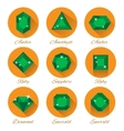 gems icons set vector image vector image