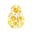 Gold Easter egg vector image vector image