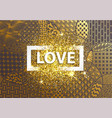 golden background happy valentine day vector image vector image