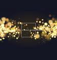 golden bokeh sparkle glitter lights background vector image