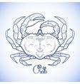 Graphic crab vector image