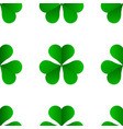 green irish clover for st patricks day seamless vector image