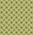 Green seamless pattern swirl leaves vector image vector image