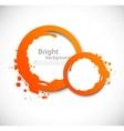 Grunge orange circles vector image vector image