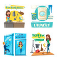 house or room cleaning cooking and laundry vector image