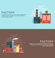 Industrial Factory Buildings Flat Style for Web vector image vector image