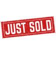just sold grunge rubber stamp vector image