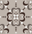 large scale fair isle style brown beige seamless vector image vector image