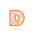 letter d in circle abstract logo design creative vector image vector image