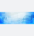 medical science dna structire banner design vector image